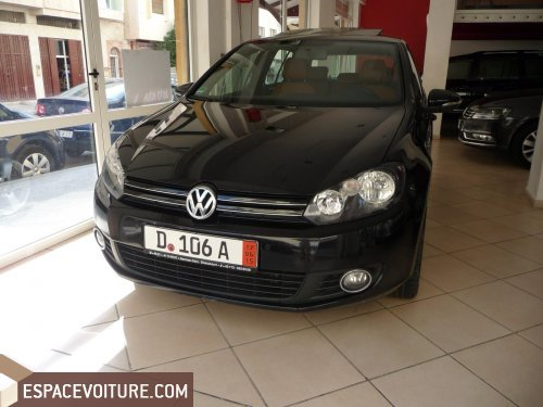 volkswagen golf 2011 diesel voiture d 39 occasion fes couleur noir. Black Bedroom Furniture Sets. Home Design Ideas