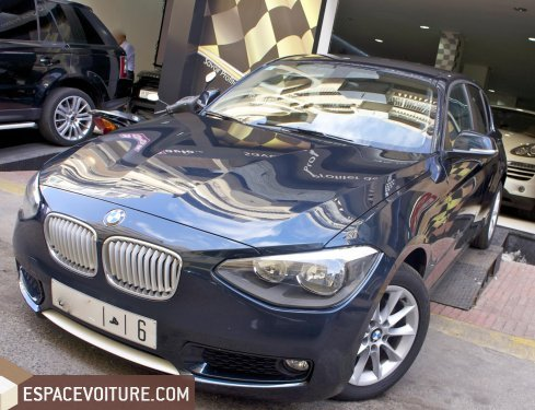 bmw serie 1 2014 diesel voiture d 39 occasion casablanca prix 240 000 dhs. Black Bedroom Furniture Sets. Home Design Ideas