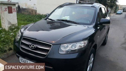 hyundai santa fe 2008 diesel voiture d 39 occasion casablanca prix 143 000 dhs. Black Bedroom Furniture Sets. Home Design Ideas