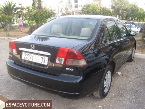 honda civic 2003 essence voiture d 39 occasion agadir prix 45 000 dhs. Black Bedroom Furniture Sets. Home Design Ideas