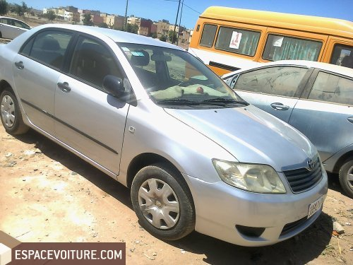 toyota corolla 2007 diesel voiture d 39 occasion casablanca prix 90 000 dhs. Black Bedroom Furniture Sets. Home Design Ideas