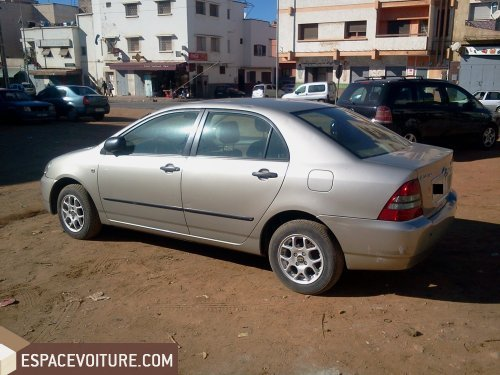 toyota corolla 2003 diesel voiture d 39 occasion sale prix 80 000 dhs. Black Bedroom Furniture Sets. Home Design Ideas