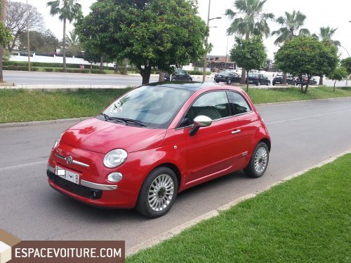 fiat 500 2009 essence voiture d 39 occasion rabat prix 103 000 dhs. Black Bedroom Furniture Sets. Home Design Ideas