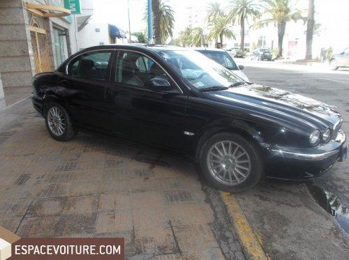 jaguar x type 2007 diesel voiture d 39 occasion casablanca couleur noir. Black Bedroom Furniture Sets. Home Design Ideas