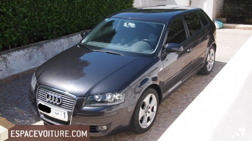 audi a3 2008 diesel voiture d 39 occasion casablanca couleur gris fonce. Black Bedroom Furniture Sets. Home Design Ideas