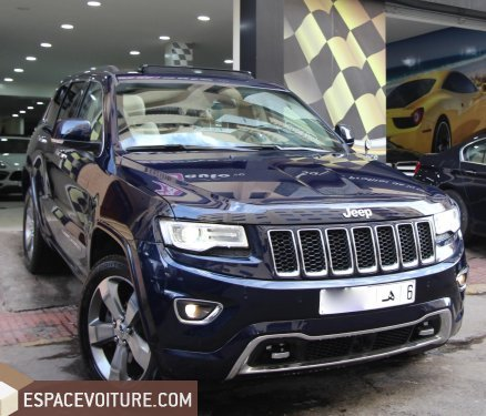 jeep grand cherokee 2016 diesel voiture d 39 occasion casablanca prix 570 000 dhs. Black Bedroom Furniture Sets. Home Design Ideas