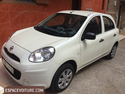 nissan micra 2014 essence voiture d 39 occasion casablanca prix 90 000 dhs. Black Bedroom Furniture Sets. Home Design Ideas