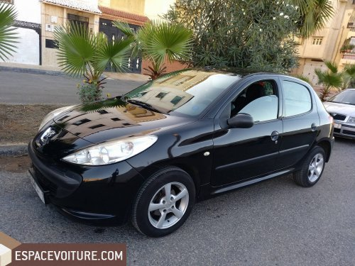 peugeot 206 occasion rabat essence prix 87 000 dhs r f rat9682. Black Bedroom Furniture Sets. Home Design Ideas