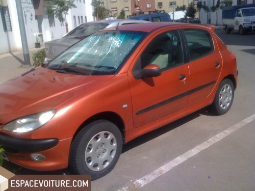 peugeot 206 2001 diesel voiture d 39 occasion casablanca prix. Black Bedroom Furniture Sets. Home Design Ideas